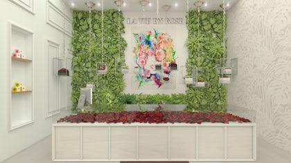 חנות פרחים וקוסמטיקה- תכנון קונספטואלי